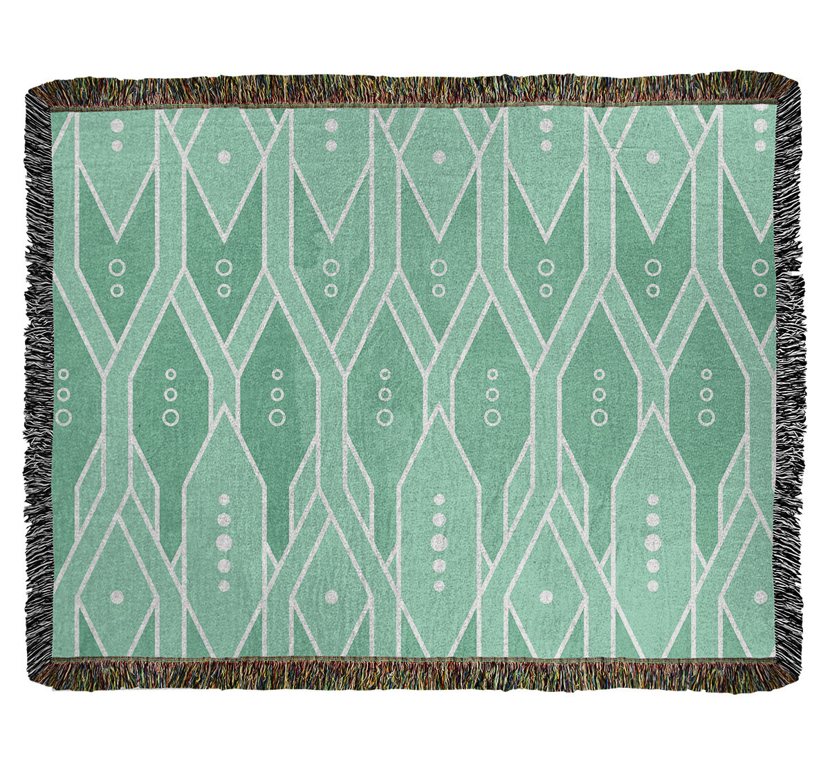East Urban Home Mcguigan Trellis Pattern Woven Cotton Throw Wayfair