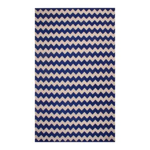 Carlos Chevron 100% Cotton Hand-Woven Area Rug