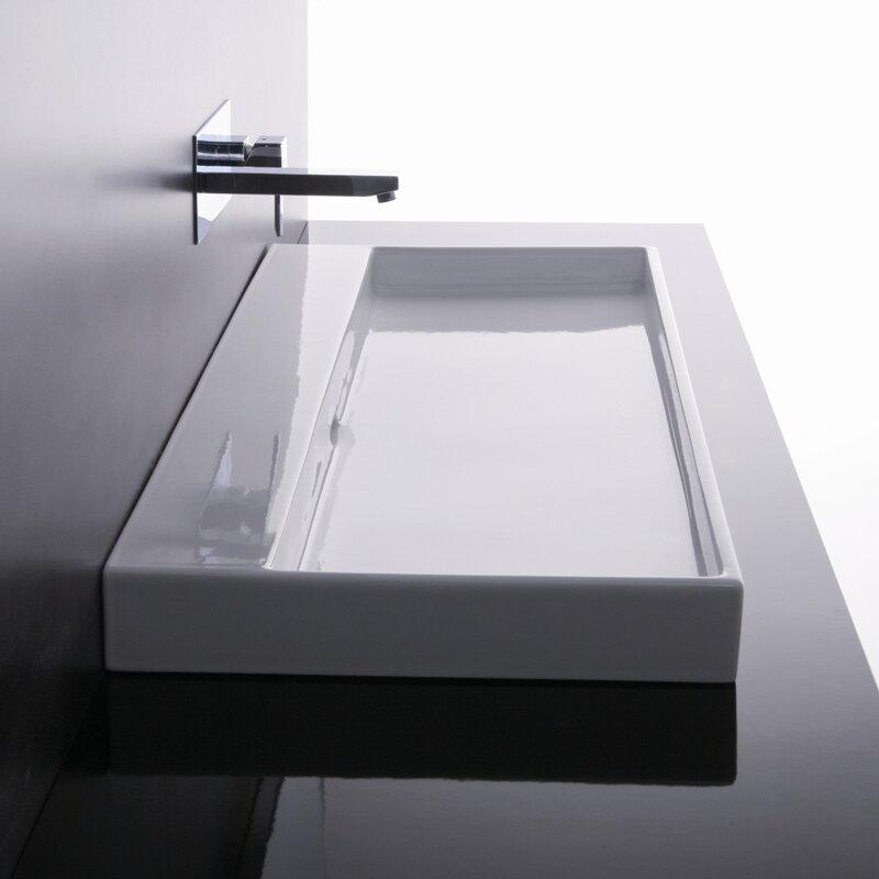 Bathroom Sink ws bath collections ceramica i urban ceramic rectangular vessel