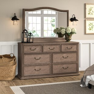 Calila 7 Drawer Dresser with Mirror