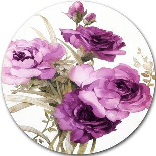 Purple Flower Painting Wayfair