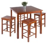 Broseley Space Saver 5 Piece Solid Wood Dining Set by Red Barrel Studio®