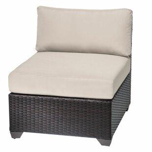 TK Classics Slipper Armless Chair with Cu..