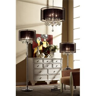 OK Lighting Effleurer 3-Light Chandelier