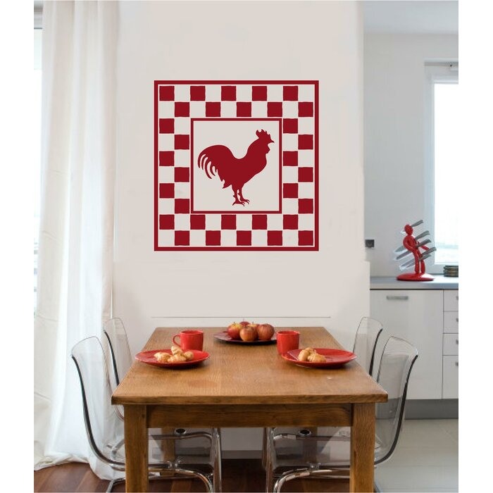 Rooster Chicken Primitive Country Kitchen Wall Decal