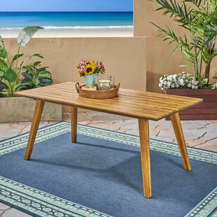 Nader Outdoor Wooden Dining Table