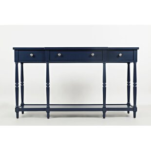 Freddie Breakfront Detailed Wooden Console Table