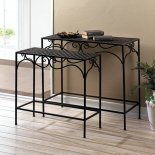 Umber Wicker 2 Piece Nesting Tables by Zingz & Thingz New Design