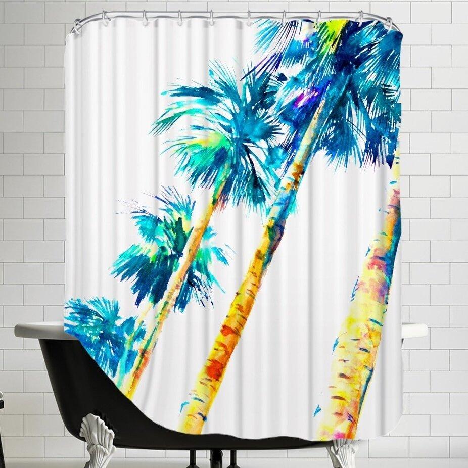 Brayden Studio Suren Nersisyan Flythe Hawaii Single Shower Curtain Wayfair