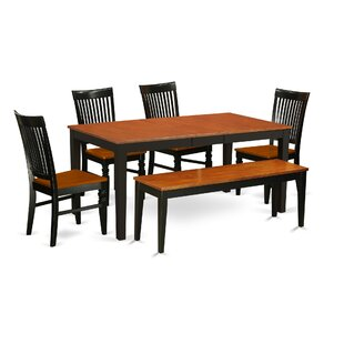 Pillar 6 Piece Extendable Dining Set
