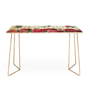 Belle13 Vintage Rose Pattern Desk