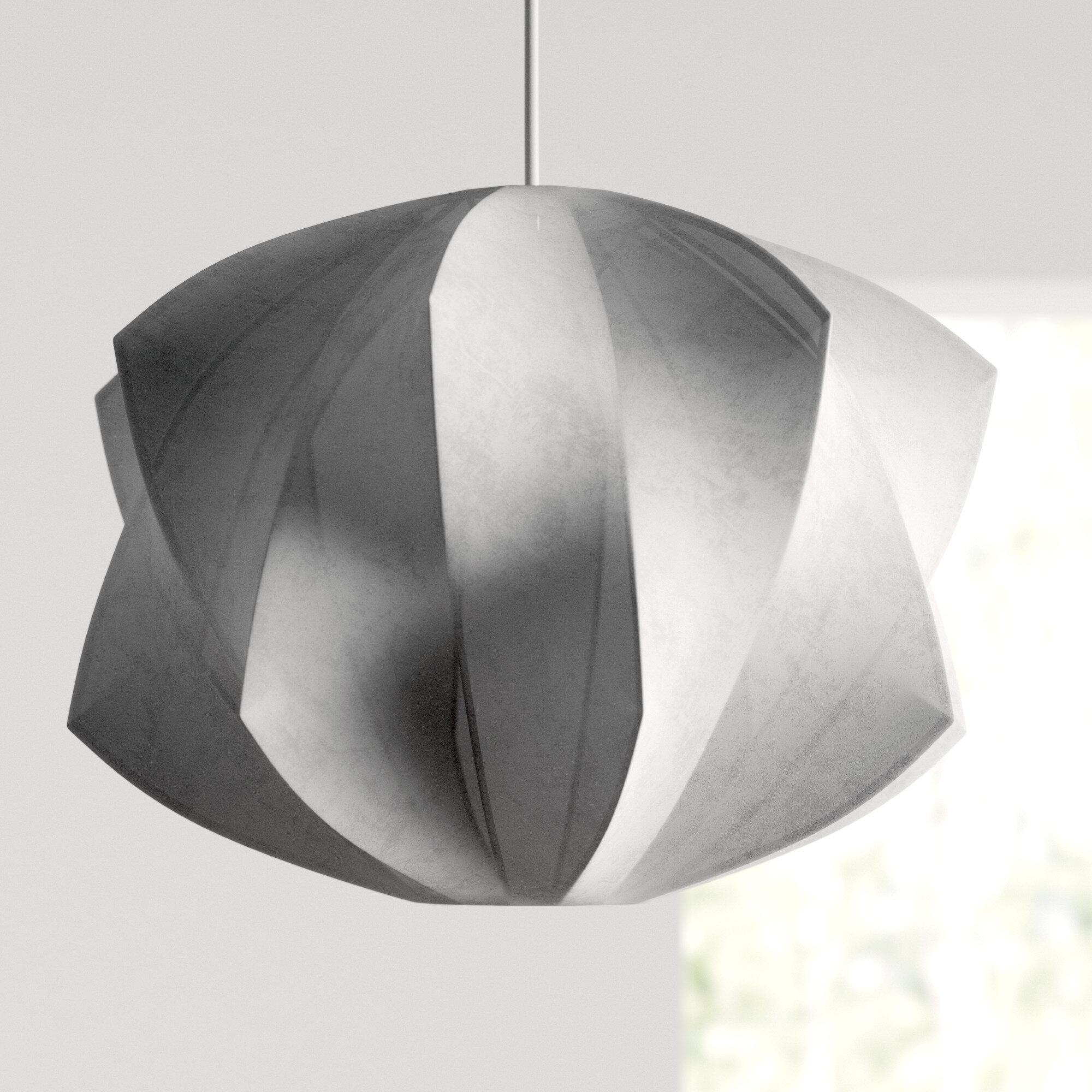 Allmodern Pryer 1 Light Single Geometric Pendant Reviews Wayfair