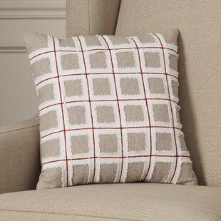 Claiborne Grid 100% Cotton Throw Pillow