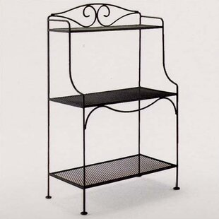 Classic Wrought Iron Baker's Rack by Woodard
