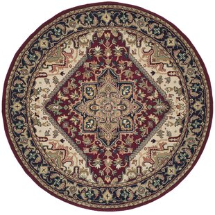 Balthrop Hand Tufted Wool Red Area Rug