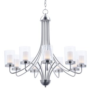 Latitude Run Caverly 9-Light LED Shaded Chandelier