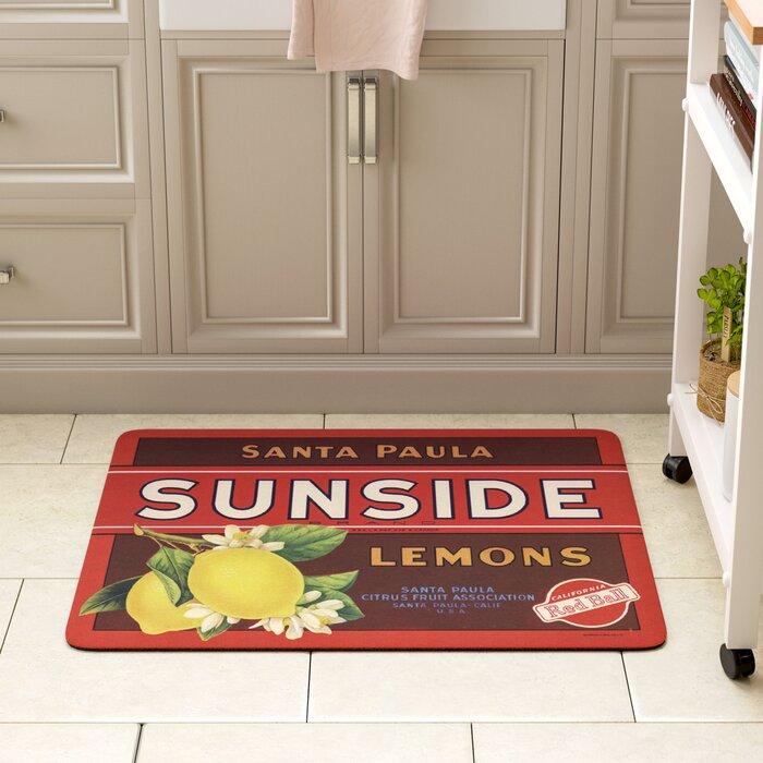 Molimo Sunside Lemons Kitchen Mat