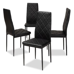 Lympsham Upholstered Dining Chair (Set of 4) by Wrought Studio