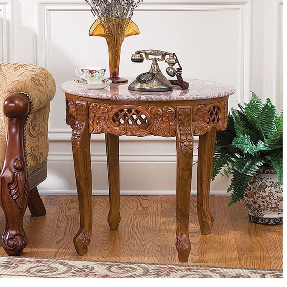Design Toscano Chantret Marble Topped End Table Amp Reviews