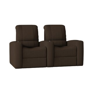 Latitude Run Leather Home Theater Recliner (Row of 2)