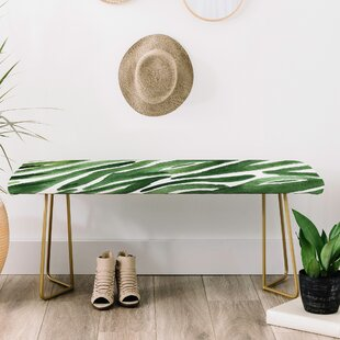 Elena Blanco Faux Leather Bench by East Urban Home
