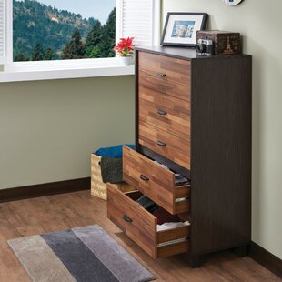 Union Rustic Poyner Wooden 5 Drawer Chest