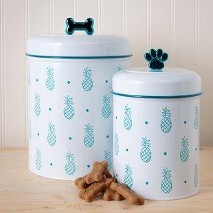 Pineapple 2 Piece Pet Treat Jar