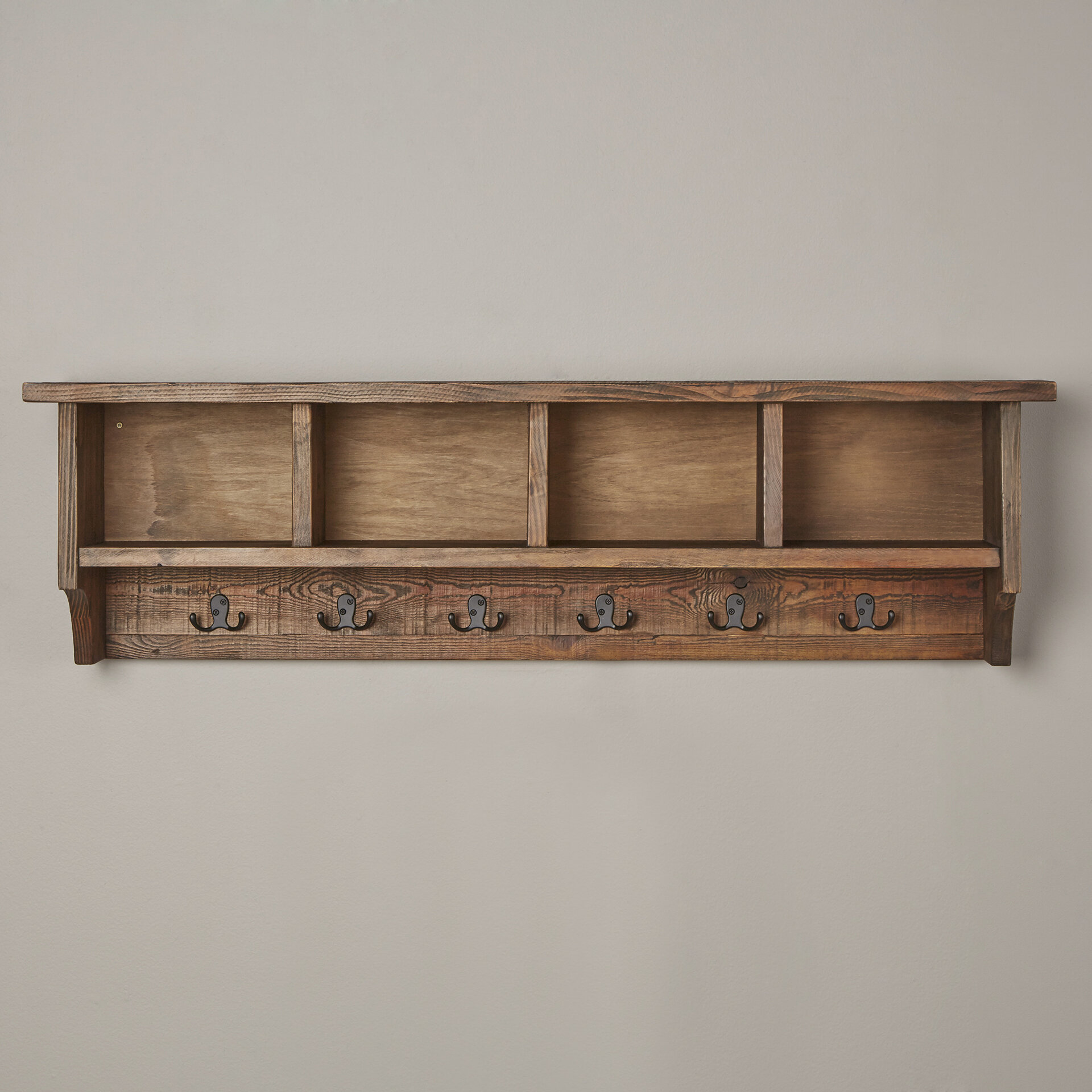 veropeso wall mounted coat rack with storage cubbies reviews rh birchlane com  wall-mounted cubby storage shelf coat rack