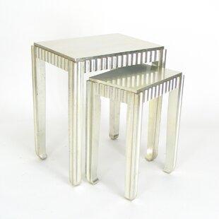 House of Hampton Tergel 2 Piece Nesting Table Set I