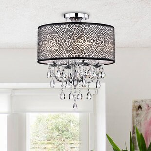 Inexpensive Albright 4-Light LED Semi Flush Mount By Willa Arlo Interiors