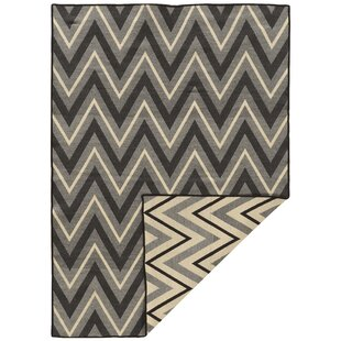 Inexpensive Brooking Hand-Woven Black/Gray Area Rug ByFoundry Select