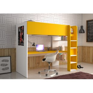 Discount Villanueva Single High Sleeper Bed With Shelves