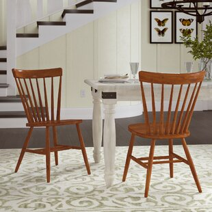 Marni Solid Wood Dining Chair (Set Of 2) by August Grove Sale