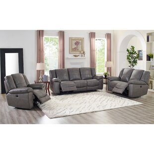 Bargain Yelverton Lay Flat Power 3 Piece Leather Reclining Living Room Set by Red Barrel Studio
