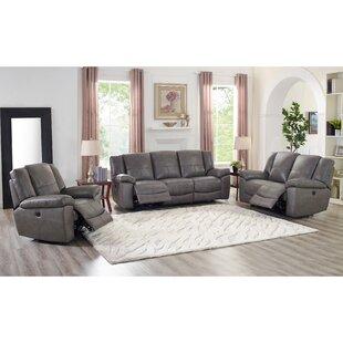 Yelverton Lay Flat Power 3 Piece Leather Reclining Living Room Set