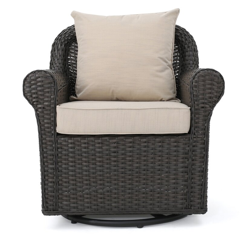 Captivating Cecilio Outdoor Swivel Rocking Chair