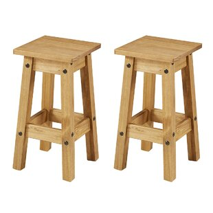 Louroukina Solid Wood 20 Short Stool Set of 2 by August Grove