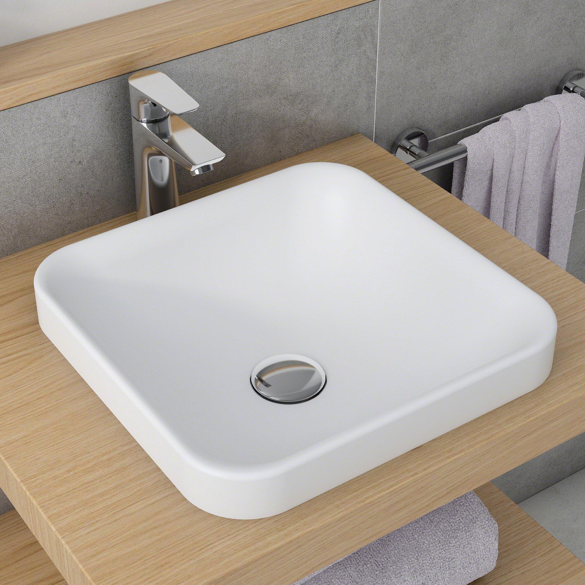 Ksr 9mw Natura Square Vessel Bathroom Sink