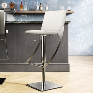 Adjustable Height Swivel Bar Stool by Nuevo
