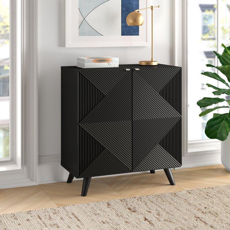 Halvorsen 2 Door Accent Cabinet by Wrought Studio™