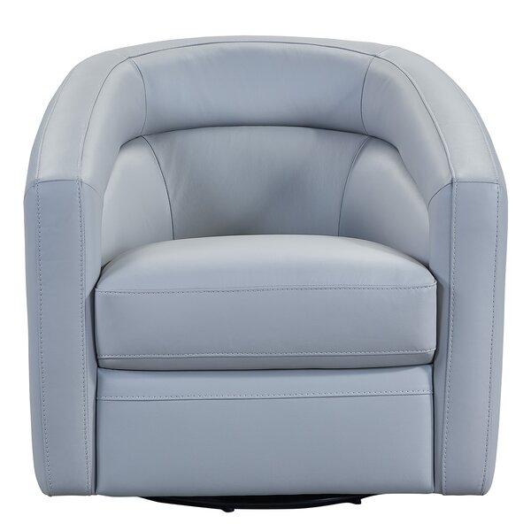 Astounding Genuine Leather Swivel Chair Wayfair Unemploymentrelief Wooden Chair Designs For Living Room Unemploymentrelieforg
