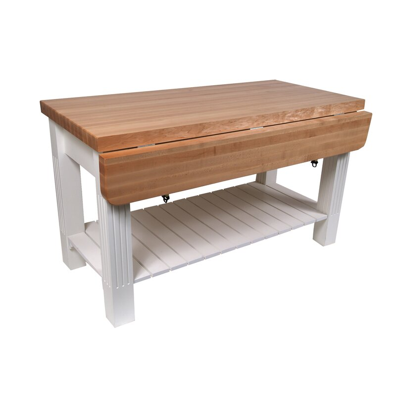 John Boos American Heritage Kitchen Island with Butcher Block