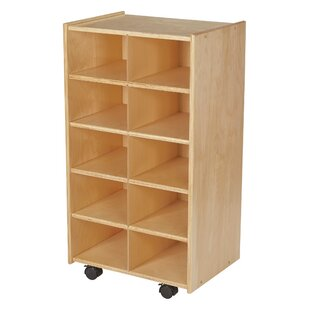 Affordable Price 10 Compartment Cubby with Casters ByChildcraft