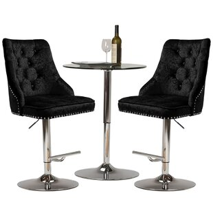Review Alaniz Height Adjustable Swivel Bar Stool