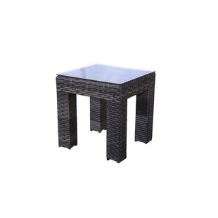 Brayden Studio Donley Wicker Side Table