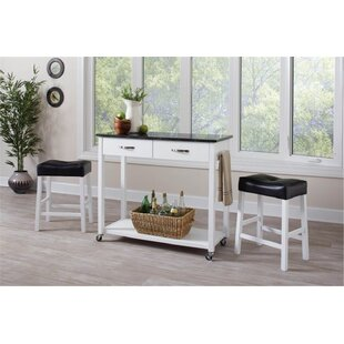 Bergland 3 Piece Kitchen Island Set by Brayden Studio