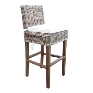 Boca Patio Bar Stool with Cushion by Padmas Plantation