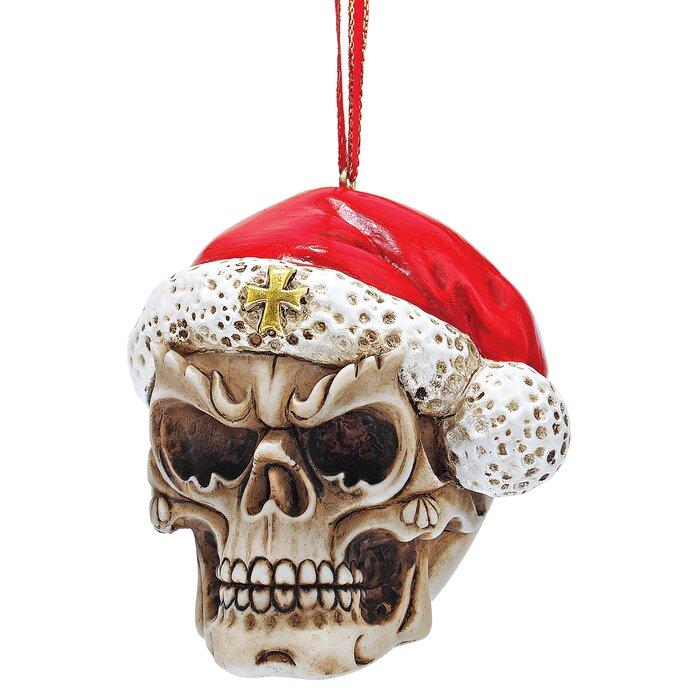 Christmas Skeleton.Skelly Claus Ii Holiday Santa Skeleton Ornament