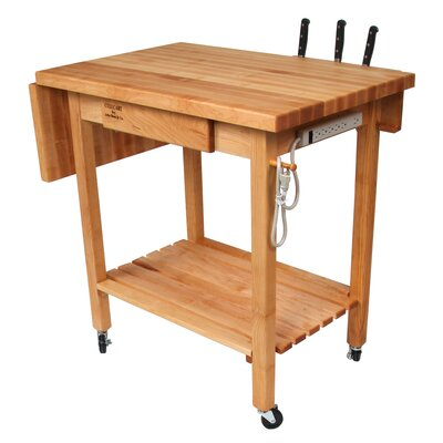 Brunton Kitchen Island With Butcher Block : Kitchen Butcher Block Table Wayfair
