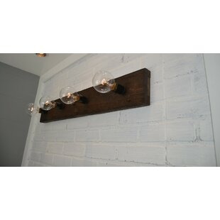West Ninth Vintage Wood 4-Light Bath Bar